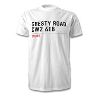 Crewe Alex' Road Sign T-Shirt - Gresty Road