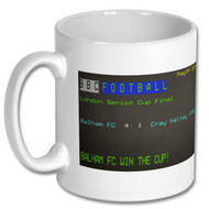 Balham FC 4 : Cray Valley 1 Cup Final Ceefax Mug