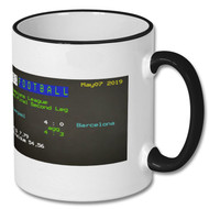 Liverpool 4 : Barcelona 0 Champions League Ceefax Mug