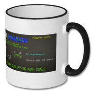 Ajax 2 : 3 Spurs Champions League Ceefax Mug - Free UK Delivery