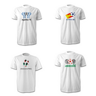 Pack of FOUR Retro World Cup T-Shirts - Free UK Delivery