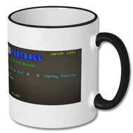 Newcastle United 2 : Derby County 0 Ceefax Mug Pete Graves Choice