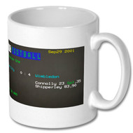 Manchester City 0 Wimbledon 4 Ceefax Mug - Free UK Delivery