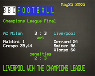 Liverpool 3 : 3 AC Milan CL Final Ceefax Mouse Mat - Free UK Delivery