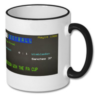 Liverpool - Wimbledon 1 FA Cup Final Ceefax Mug - FRee UK Delivery