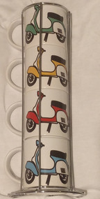 Vespa Stacker Mug Set - Free UK Delivery