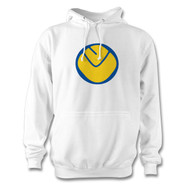 Leeds United Retro Smiley Crest Hoodie - Supporting @LUFCFoodbank
