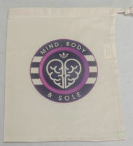 Mind Body And Sole Drawstring Bag