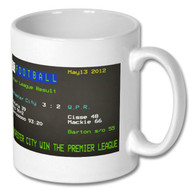 MCFC 3 : QPR 2 - Premier League Winners Ceefax Mug