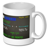 Manchester City 2 Gillingham 2 1999 Play-Off Final Ceefax Mug