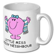 Little Miss Noisy Neighbour Mug - Includes Free Coaster - Free UK Delivery