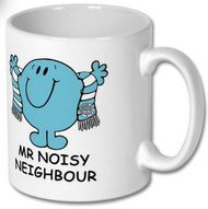 Mr and Little Miss Noisy Neigbour Mugs and Coaster Set - Free UK Delivery
