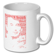 Brian Clough Word Cloud Portrait Mug