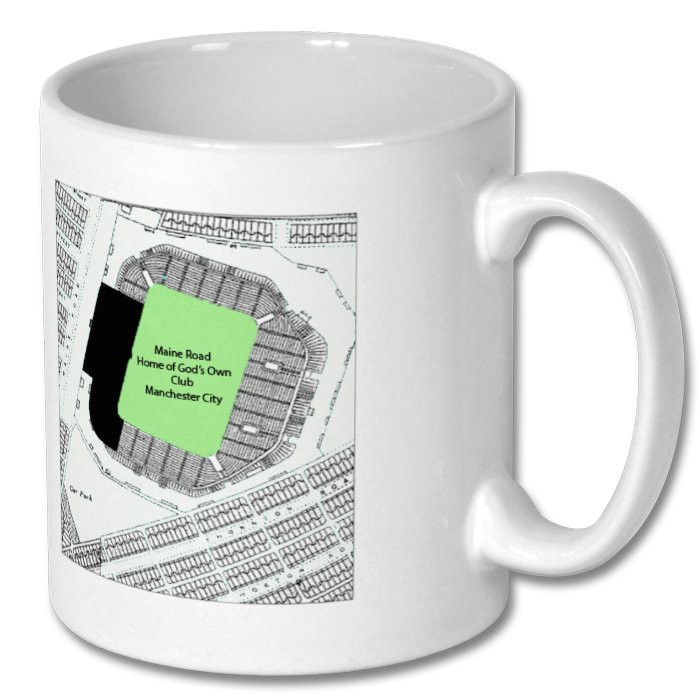Manchester City Maine Road Map Mug Free Uk Delivery Club
