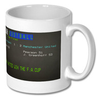 Man United 1977 FA Cup Win - Ceefax Mug - Free UK Delivery