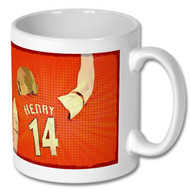 Arsenal - Thierry Henry Pop Art Mug - Free UK Delivery