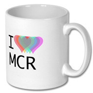 I Love Manchester Rainbow Heart - Free UK Delivery