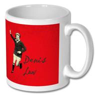 Denis Law Retro Mug - Free UK Delivery