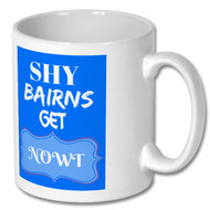 Shy Bairns Mug - Blue - Free UK Delivery