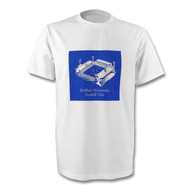 Sheffield Wednesday Retro Hillsborough T-Shirt - Free UK Delivery