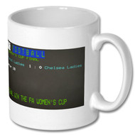Arsenal Ladies FA Cup Win - Ceefax Mug - Free UK Delivery