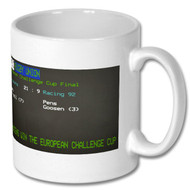Saracens European Challenge Cup Win Ceefax Mug - Free UK Delivery