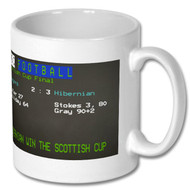 Hibernian Scottish Cup Win Ceefax Mug - Free UK Delivery