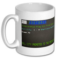 Hull City Play Off Final Ceefax Mug - Free UK Delivery