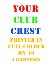 10 Club Coasters - Free UK Delivery