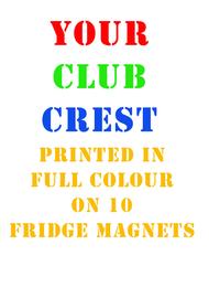 10 Club Fridge Magnets - Free UK Delivery