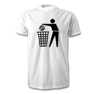 Manchester United Trash Can T-Shirt - Free UK Delivery