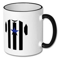 NUFC Retro Shirt Black & White Mug - Free UK Delivery