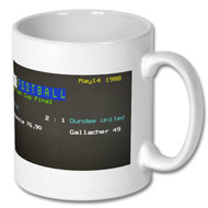 Celtic 2 : Dundee United 1 Ceefax Mug - Frank McAvennie's Choice