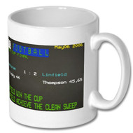 Linfield Irish Cup and Clean Sweep Ceefax Mug