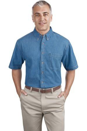 236575b20360 Port & Company - Short Sleeve Value Denim Shirt. SP11. - JOESUSA.COM