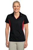 Sport-Tek Ladies Side Blocked Micropique Sport-Wick Polo. LST655.
