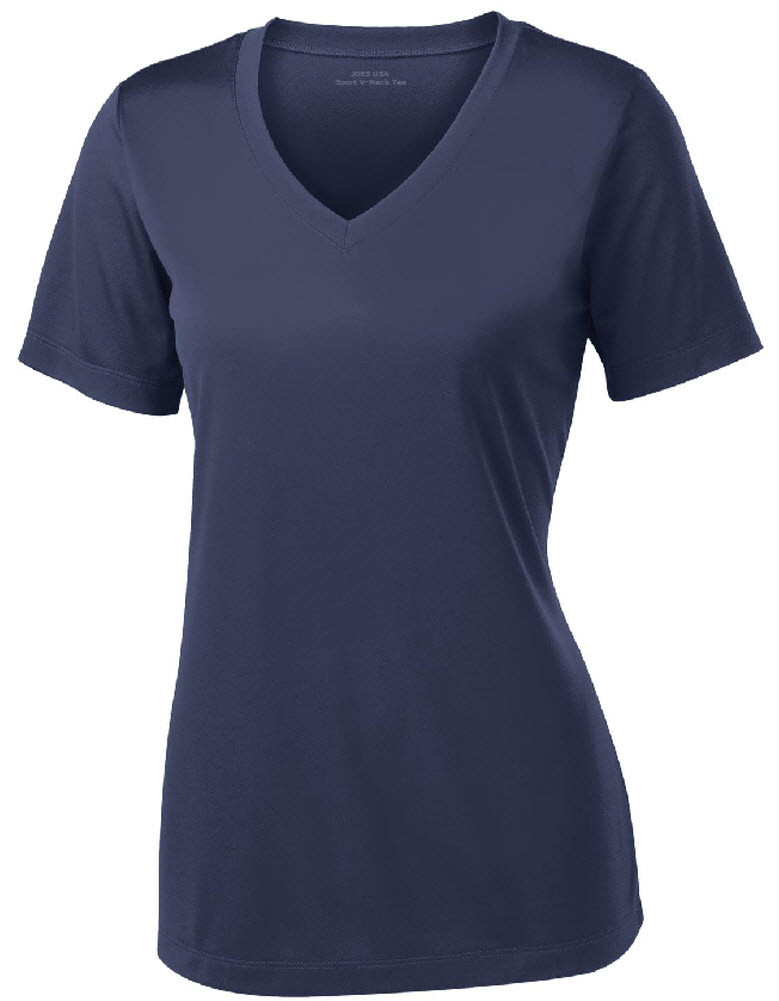 d2a2a4ca0d5cf Women's Athletic All Sport V-Neck Tee Shirt in 15 Colors - Sizes XS-4XL