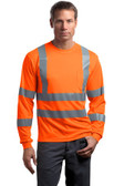 CornerStone - ANSI 107 Class 3 Long Sleeve Snag-Resistant Reflective T-Shirt. CS409.