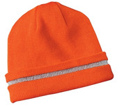 CornerStone - Enhanced Visibility Beanie with Reflective Stripe. CS800.