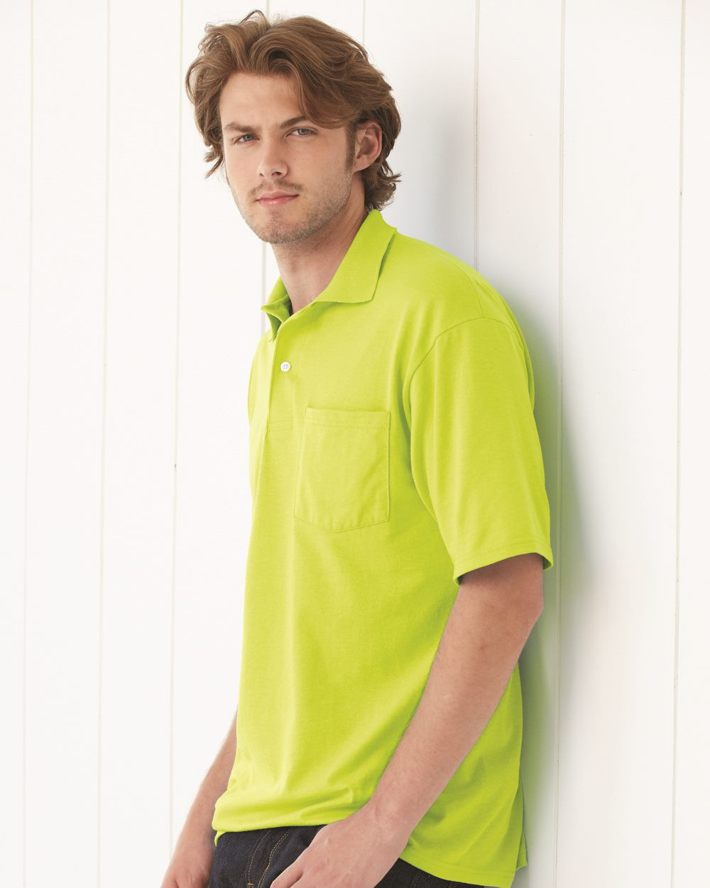 1efd7e4b242 JERZEES - SpotShield 50/50 Sport Shirt with a Pocket - 436MPR. Loading zoom