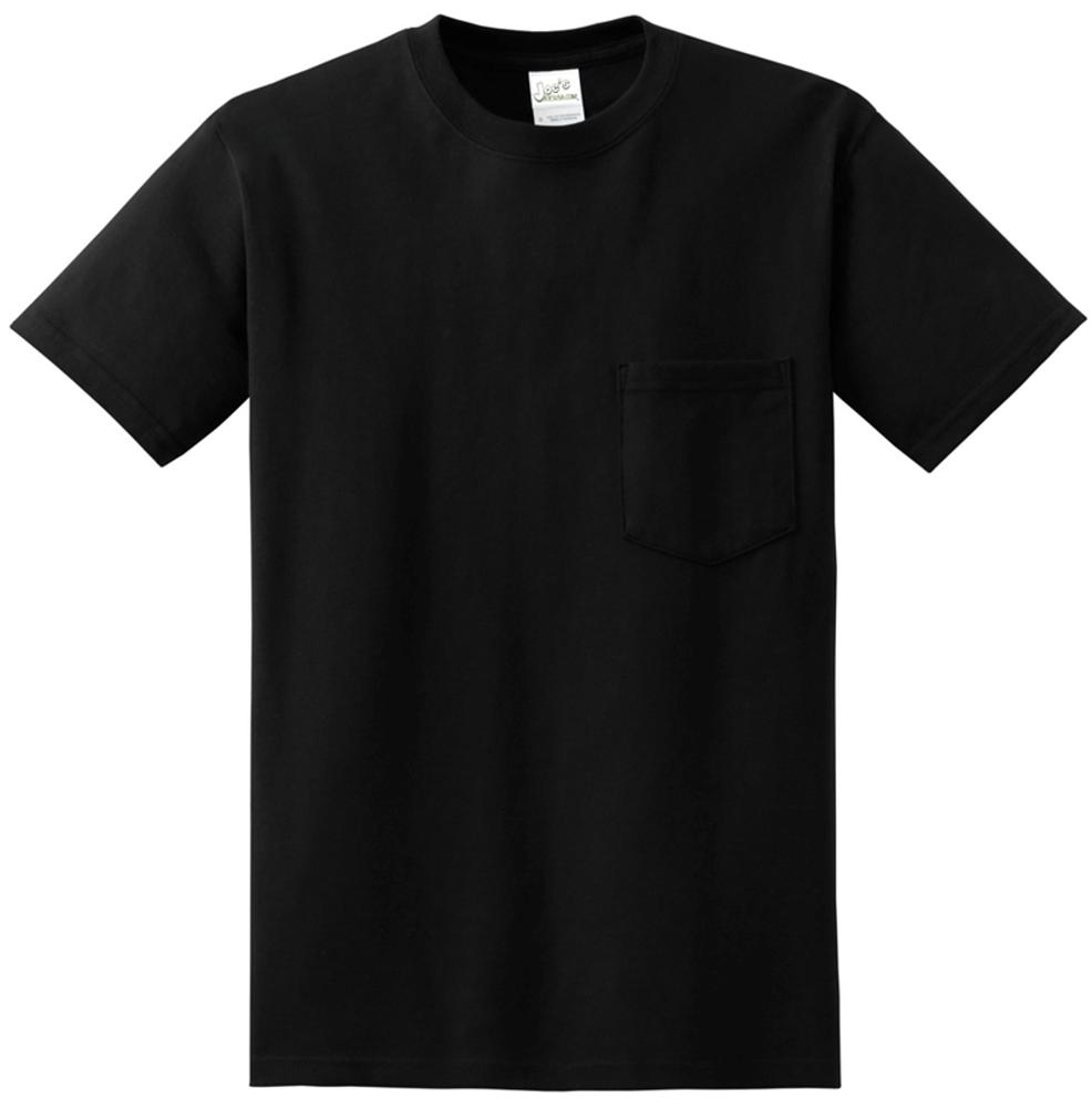 848ebc74901 Joe s USA Pocket Tee Shirt- 50 50 Poly Cotton in Sizes S-6XL ...