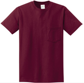 Joe's USA Pocket Tee Shirt- 50/50 Poly Cotton  in Sizes S-6XL