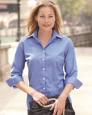 Ladies' Three-Quarter Sleeve Baby Twill Shirt - 13V0527