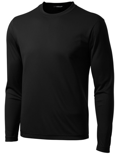 DRI-EQUIP Long Sleeve Moisture Wicking Athletic Shirts in Mens Sizes XS-4XL