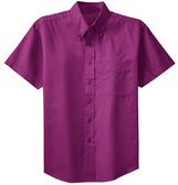 Men's Short Sleeve Wrinkle Resistant Easy Care Shirts in 32 Colors. Sizes XS-6XL