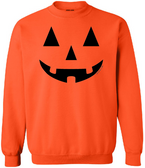 Joe's USA - JACK O' LANTERN PUMPKIN Halloween Costume Orange Crewneck Sweatshirt