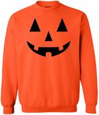Joe's USA - JACK O' LANTERN PUMPKIN Halloween Costume Orange Crewneck Sweatshirt