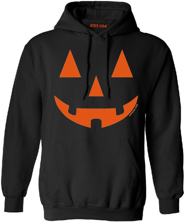 Joe's USA - JACK O' LANTERN PUMPKIN Halloween Costume Black Hoodie Sweatshirt