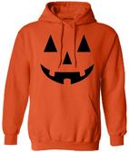 Joe's USA - JACK O' LANTERN PUMPKIN Halloween Costume Orange Hoodie Sweatshirt