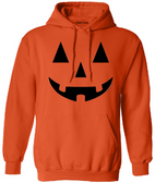 Joe's USA - JACK O' LANTERN PUMPKIN Halloween Costume Orange Hoodie Sweatshirt